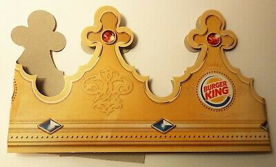 BURGER KING COMPANY ADVERTISING PAPER CROWN FROM ESTONIA