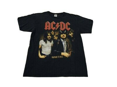 Vintage AC DC Highway To Hell Graphic Tee Shirt Anvil Tag Size Large