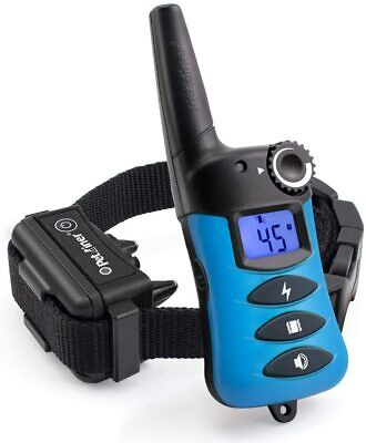 Petrainer 1000ft Remote Dog Training Shock E Collar No Bark Collar Rechargeable