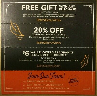 Bath And Body Works Coupons Valid Till Oct 18 2020 12 50 Picclick