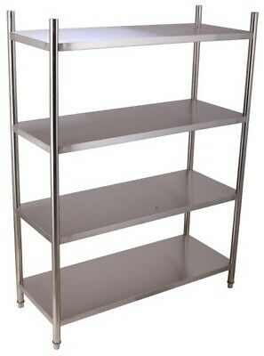 Commercial Storage Shelf Stainless Steel Kitchen 4 Tier Storage Shelving Racking