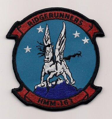 HMM-163 RIDGERUNNERS EVIL EYES HAT LAPEL PIN UP US MARINES CHHELICOPTER MR 3390