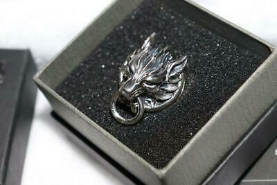 FINAL FANTASY VII ADVENT CHILDREN Silver RING Claudy Wolf 9.5 size with box New