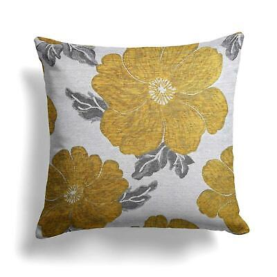 """CHRYSTIE CHENILLE FLORAL 18/"""" LUXURY HARD WEARING CUSHION COVERS £5.95 4 COLOURS"""