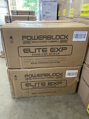 IN HAND FAST SHIPPING 50-70 lbs 2020 Model POWERBLOCK Elite EXP Stage 2 Kit