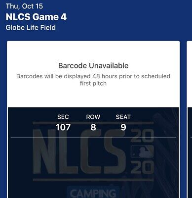 Mlb National League Championship Series Game 5 Tickets Nlcs 2020
