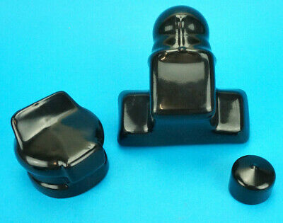 Plain Black Towball Cover with Plug & Socket Covers for Trailer 7 Pin Towing