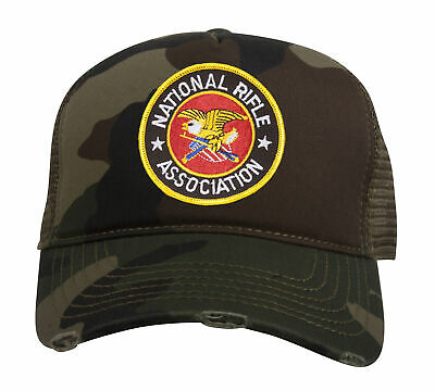 NRA National Rifle Association *TAN* CIRCLE LOGO TWILL HAT CAP NEW NR16
