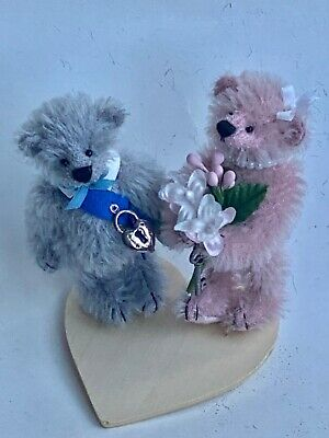 "DEB CANHAM/'S BIGGER BEARS /""LUCY LILAC/"" 7 1//2/"" LIGHT PURPLE MOHAIR JOINTED BEAR"