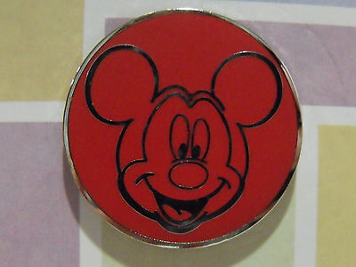 New Authentic 2016 Disney Character Face Booster Trading Pin Red Mickey Mouse