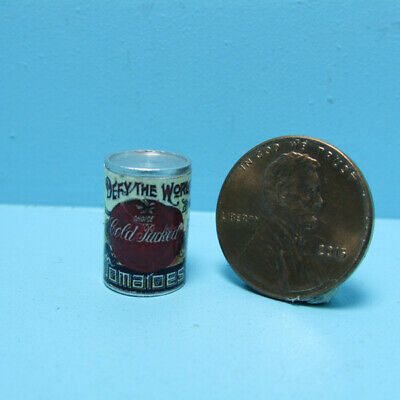 Dollhouse Miniature Replica Can of Hunts Diced Tomatoes ~ G096