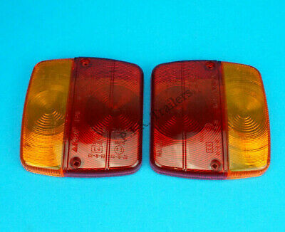 2 x AJBA FP11 Replacement Lens for Small Rear Trailer Lamp Light  Daxara & Erde