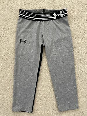 UNDER ARMOUR Girls UPF 30 FITTED Capri Leggings Size YMD Youth Medium NEW NWT