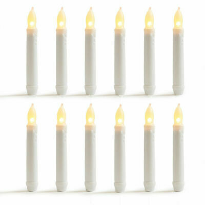 """LED Flameless Flickering Taper Candles-6.25"""" Warm White Battery Operated"""