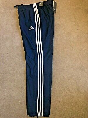 Las bacterias Palmadita Poder  NWT ADIDAS ESSENTIALS Men's 3 Stripe Wind Pants #CD7078 Blue/White MED MSRP  $45 - $28.99 | PicClick