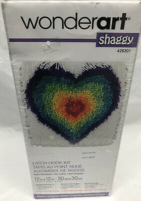 WonderArt Wonder Art Shaggy Latch Hook Kit Sealed Rainbow Star 12x12 USA 426309