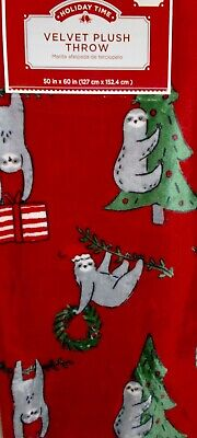 Details about  /Great Bay Home Decorative Holiday Throw Blanket Super Soft Velvet Plush Christm