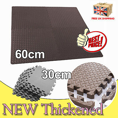 EXTRA THICK GYM FLOORING INTERLOCKING FLOOR MATS EVA SOFT FOAM MAT YOGA TILES UK