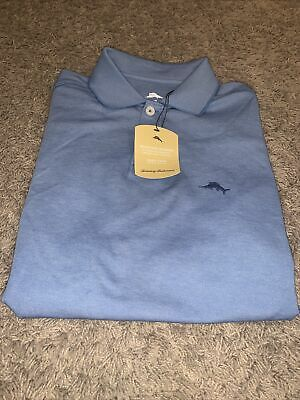 Tommy Bahama Mens Frosted Jade Green Wicking S//S Supima Polo Shirt $89 NWT