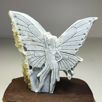 Details about  /Trolleite in Quartz Crystal Angel Carving