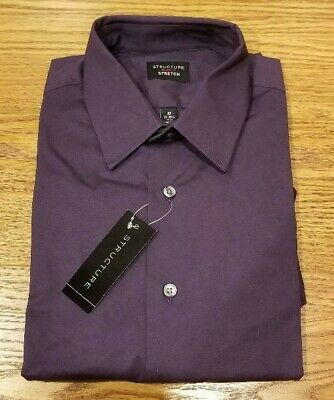 Structure Men/'s Dress Shirt Button Up Many Sizes Waiter Bartender MSRP $42 NWT