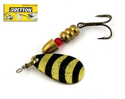 Bretton  Cuiller tournante T2 dorée points rouges 40 mm 4 grs