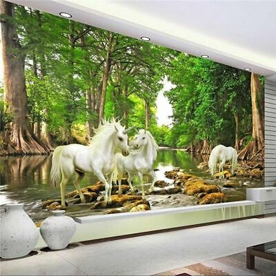 Details about  /3D Forest Brown Horse N256 Wallpaper Wall Mural Self-adhesive Assaf Frank Fay