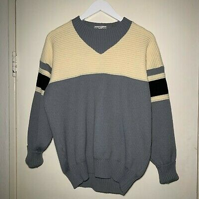 Jaeger Sportsman Vintage 1970 80s Crew Neck Jumper Sweater 50 Wool Size L 34 95 Picclick Uk