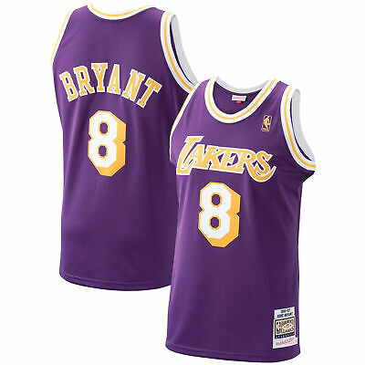 LOS ANGELES LAKERS Mitchell and Ness Authentic Jersey - No. 8 ...