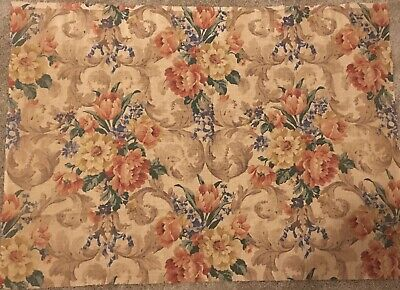 Mid 19th Century French linen Floral Fabric