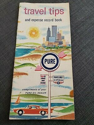 Vintage Pre-1970's Pure Oil Company Travel Tips and Expense Brochure