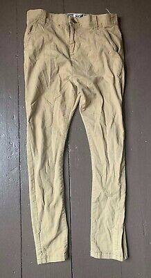 Next Authentic Boys' Brown Denim Jeans Size 10 Years Preowned