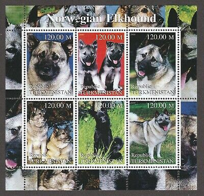 NORWEGIAN ELKHOUND  ** Int'l Dog Postage Stamp Art Collection **Great Gift Idea*
