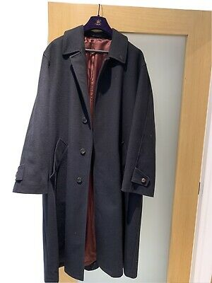 Mens Black Austin Reed Wool Sympatex Full Length Smart Overcoat 48l 20 00 Picclick Uk