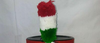 Tri Color Wool Pompom for Shako Napoleonic Hat/ Helmet
