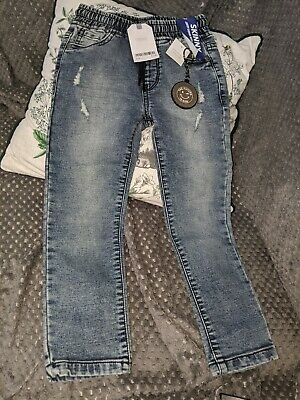 NEW Next Boys Skinny Jeans Age 5 years with keyring jersey denim stretch
