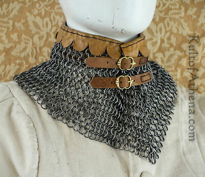 Chainmail Collar - 9 mm 16 gauge Butted High Tensile Wire Rings