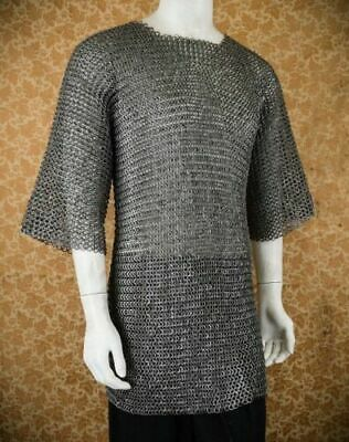 Flat Riveted With Warser Chainmail shirt 9 mm Medium Size Half sleeve Huber