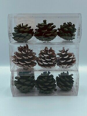 Creative Co-op Gold Pine Cone Ornament Set of 3 Dual Pairs