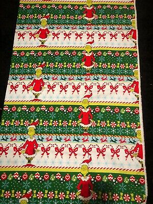 Christmas Candy Canes on Red Quilting Cotton Fabric Novelty Fabric Ugly Christmas Mask Fabric