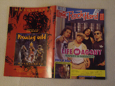 ROCK HARD Nr. 102 - 1995 Soundgarden Life of Agony Savatage Die Krupps + Poster