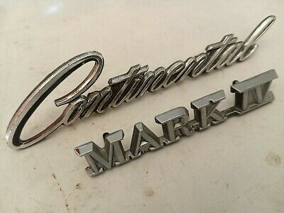 1964-1972 Lincoln Continental Nameplate Emblem C4VY 5325622 A Genuine Ford NOS