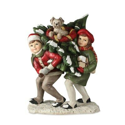 Bethany Lowe Traditional Sledding Trio Children Figurine  ~~FREE SHIPPING~~ NEW