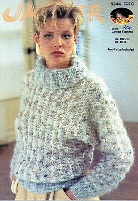 Jaeger Knitting Pattern For Lady S Beautiful Roll Neck Mohair Sweater 1 85 Picclick Uk