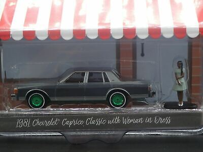 C8 Greenlight Hobby Shop 1981 Chevrolet Caprice Classic with Woman in Dress