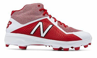 New Balance Mid-Cut 4040v4 TPU Baseball Cleat Mens Shoes Red with White