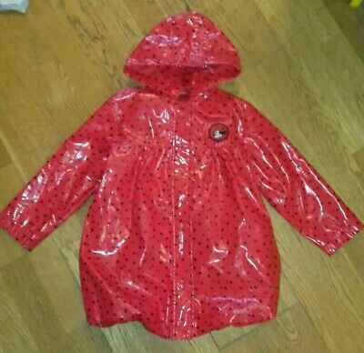 Disney Minnie Mouse Red Hooded Padded Coat /& Mittens  christmas pressy same d po