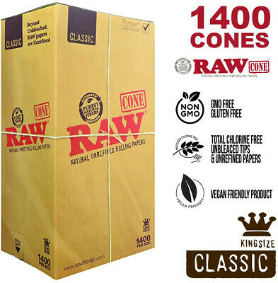 RAW 1400 Classic King Size Cones 109mm Pre Rolled Hemp Cones US Fast Shipping