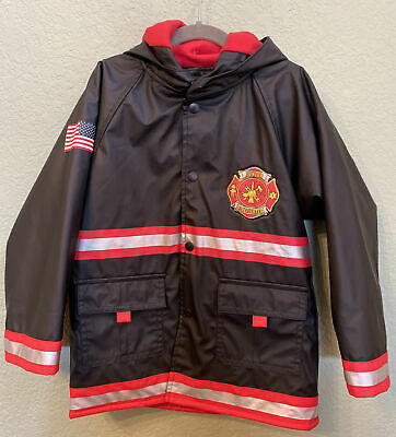 Kidorable Fireman Raincoat 12-18 Months Baby Boys Firefighter Kids Waterproof