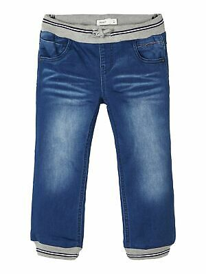 Baby Toddler Children Jeans Trousers Baggy Pants Power Stretch Denim Ribbed Band